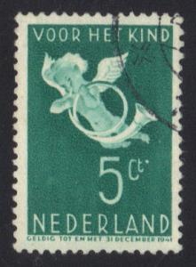 Netherlands 1936 used child welfare 5 ct   #