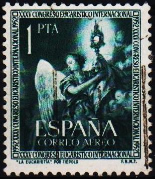 Spain. 1952 1p S.G.1177. Fine Used