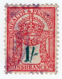 (I.B) George V Revenue : Health & Pensions Insurance 1/-