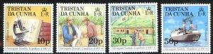 Tristan Da Cunha Sc# 416-419 MNH 1987 Norwegian Scientific Exp. 50th