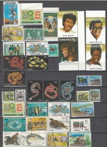COLLECTION LOT # 54L TANZANIA 68 STAMPS CLEARANCE