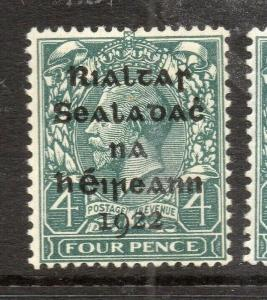 Ireland GV 1922 Early Issue Fine Mint Hinged 4d. Optd 303893