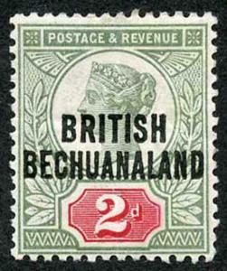 Bechuanaland SG34 2d Jubilee m/m (bend)