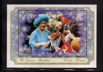 Isle of Man Sc 859 2000 Queen Mother 100 stamp sheet NH