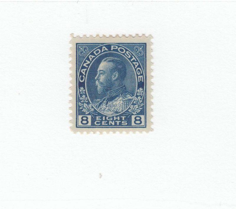 CANADA # 115 VF-MLH 8cts KGV ADMIRAL BLUE CAT VALUE $80