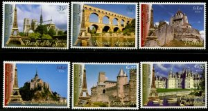 UNITED NATIONS Sc# NY 915-6 GE 459-60 VI 382-3 2006 World Heritage France MNH