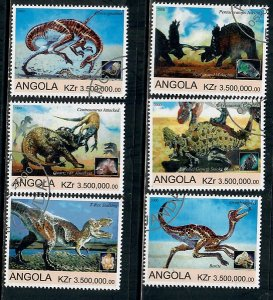 Angola Used Dinosaurs complete set CTO