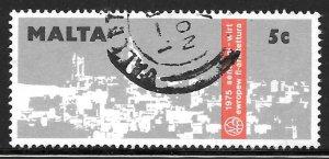 Malta 499: 5c View of Victoria, Gozo, used, VF
