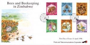 Zimbabwe - 1998 Bees FDC SG 964-969
