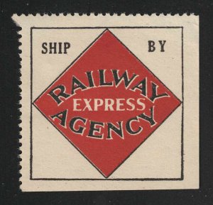 Ship By Railway Express Agency Poster Stamp/Label