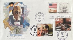 HNLP Hideaki Nakano 1845 Igor Stravinsky With Composer Songwriter 3 X FDCs