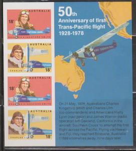 Australia MNH S/S 675a 50th Anniversary 1st Trans-Pacific Flight