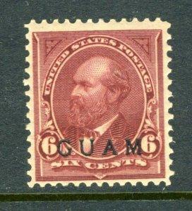 Guam #6 Overprint Issue of War of 1899 (Mint Hinged) cv$250.00