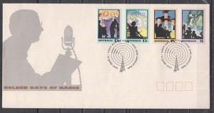 Australia, Scott cat. 1218-1221. Golden Days of Radio issue. First day cover. ^