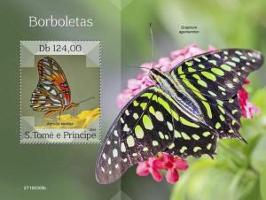 Z08 IMPERF ST190308b Sao Tome and Principe 2019 Butterflies MNH **