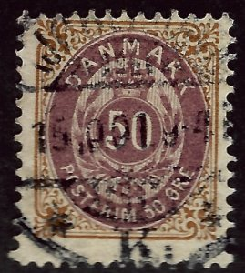 Denmark SC#33 Used Fine Cat $30.00...steal the deal!!