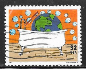 USA 2951: 32c Earth Clean Up, used, VF