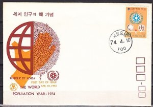 South Korea, Scott cat. 904. World Population Year issue. First day cover. ^