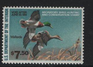 US, RW47, 1980, MNH, DUCK STAMP