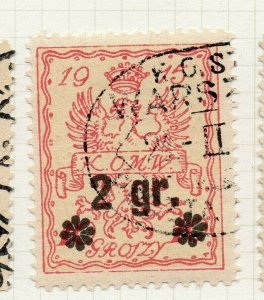 Poland Warsaw 1916 Early Issue Fine Used 2gr. Surcharged Postmark NW-14474