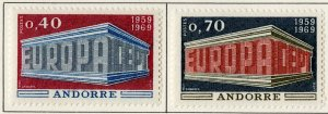 FRENCH ANDORRA 188-8 MH SCV $18.50 BIN $8.00 EUROPA