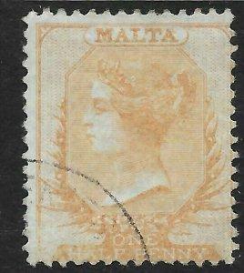 MALTA SG3 1863 d BUFF USED