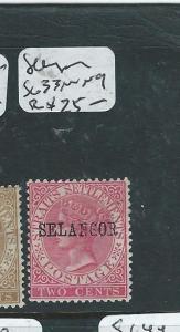MALAYA SELANGOR (PP2607B) QV 2C   SG 33  MNG