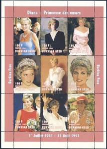 Burkina Faso 1997 Sc 1090K Diana Princess of Wales Stamp**