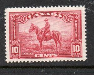 Canada Sc 223 1935 10c RCMP Officer on Horse stamp mint