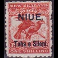 NIUE 1903 - Scott# 13a Kiwi Opt. 1s LH