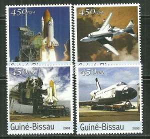 Guinea-Bissau MNH Set Of Space Shuttles 2003