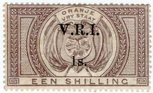 (I.B) Orange Free State Revenue : Duty Stamp 1/- (VRI)