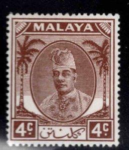 MALAYA Kelantan Scott 53 MH* 1951 Sultan Ibrahim stamp