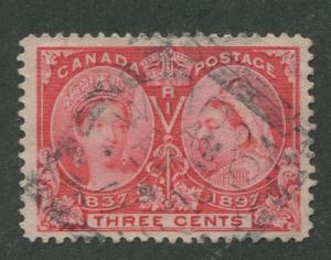 CANADA #53 USED JUBILEE SQUARED CIRCLE CANCEL WINDSOR, N.S. (.02)