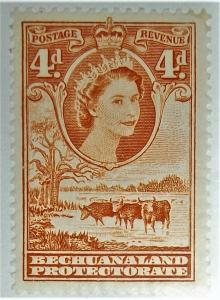 Bechuanaland, Postage Stamp, #158 Mint Never Hinged, 1958