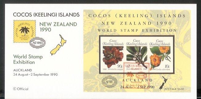 Cocos Is - 1990 New Zealand 1990. International Stamp Exhibition (FDC)