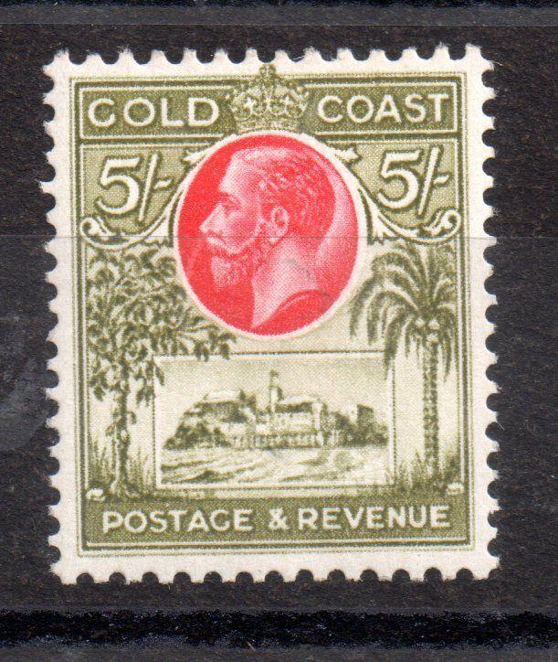 Gold Coast KGV 1928 5/- mint MH SG112 WS3534