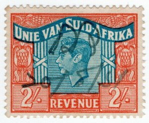 (I.B) South Africa Revenue : Duty Stamp 2/- (language error)