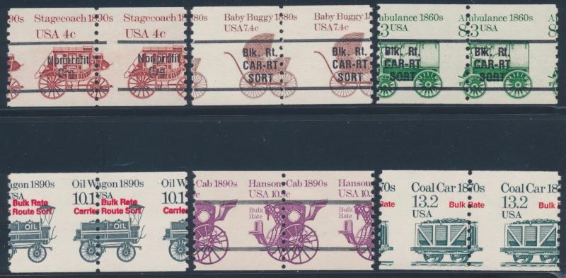 #1898 // 2259 VAR. TRANSPORTATION ISSUE (6) DIFF MISPERF PAIR ERRORS BT5516