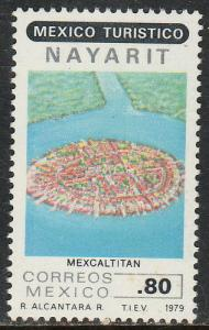 MEXICO 1191, Touristic sites, MEXCALTITAN. MINT, NH. F-VF.