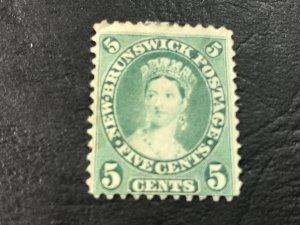 NEW BRUNSWICK # 8a-UNUSED(MINT/NO GUM)------BLUE/GREEN------1860-63(LOTA)