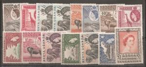 Kenya, Uganda, Tanzania SC 103-17 Mint, Never Hinged
