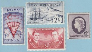 ROSS DEPENDENCY L5 - L8  MINT NEVER HINGED OG ** NO FAULTS EXTRA FINE! - Y025