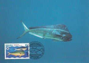 Nauru 1997 Maxicard Sc #443a 20c Dolphinfish WWF