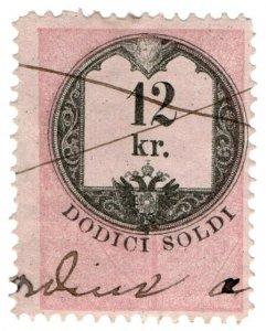 (I.B) Austria/Hungary Revenue : Stempelmarke 12kr (Lombardy-Venetia)