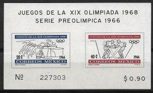 1966 Mexico 975a Summer Olympics MNH S/S