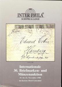 Internationale 30. Briefmarken- und Munzenauction, Interp...