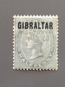 Gibraltar 1 F-VF MH. Scott $ 24.00