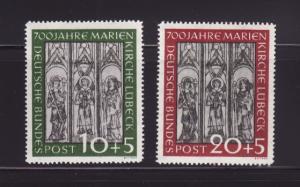 Germany B316-B317 Set MNH Art, Frescoes from Marienkirche