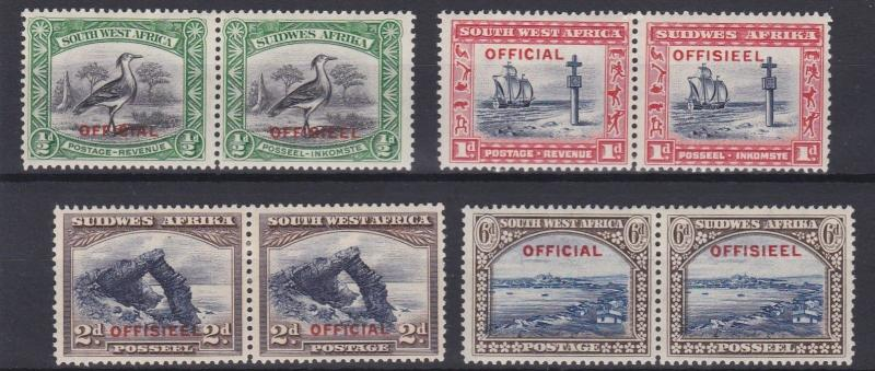 SOUTH WEST AFRICA  1931   S G  013 - 016  OFFICIAL SET   MH